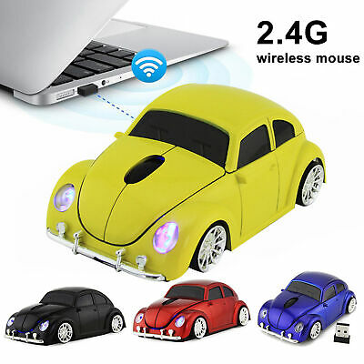 AU17.99 • Buy Wireless Mouse Ergonomic Car Shape Wireless Gaming Mouse Receiver For PC Laptop