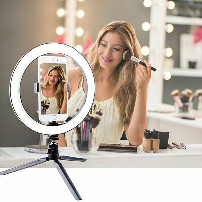AU22.79 • Buy 16-26cm LED Ring Light With Tripod Stand Selfie Make Up Video Live Lamp Lighting