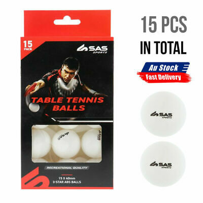 AU12.68 • Buy 15Pcs Large White Table Tennis Balls Training Ping Pong 40mm Fast Delivery AU