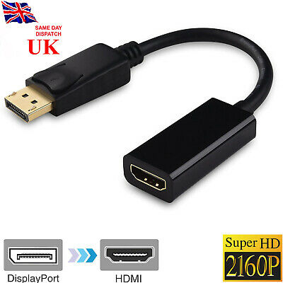 £3.27 • Buy 4K HD Display Port DP Male To HDMI Female Adapter Converter For 1080P HDTV PC