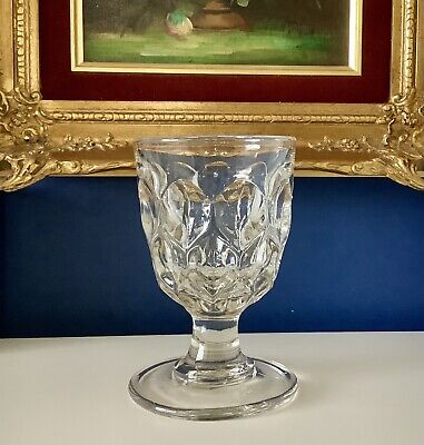 £35 • Buy Rare Mid 19th C. Early Victorian Pressed Moulded Glass Rummer C1840