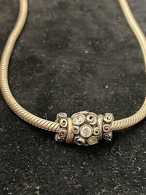 AU1.32 • Buy PANDORA Sterling Silver Necklace With Five Bead Charms