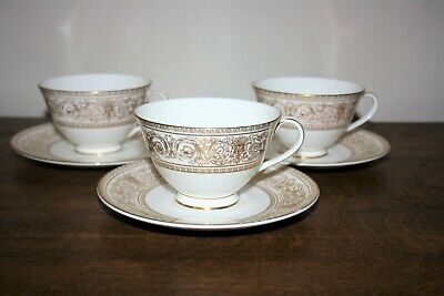 £15 • Buy Beautiful Trio Of Royal Doulton  Sovereign  Fine Bone China Tea Cups & Saucers