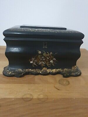 £29.99 • Buy Antique Chinese 19thc Paper Mache Tea Caddy