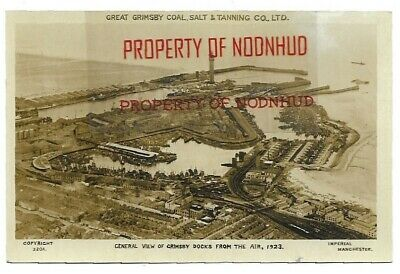 £8.99 • Buy GRIMSBY; VIEW OF THE DOCKS FROM THE AIR, 1923. RP No 32 OA. Imperial, Manchester