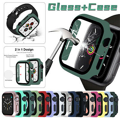 AU10.27 • Buy Full Screen Protector Glass Bumper Case For Apple Watch Series 42/40/44mm 6/5/4