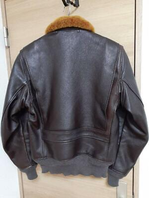 $893.98 • Buy REAL McCOY'S Leather Jacket M‐422A Size 40 Seal Brown