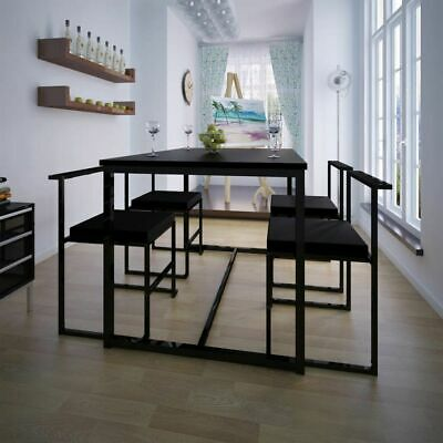 AU325 • Buy 5 Piece Dining Table And Chair Set Black