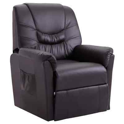 AU384 • Buy Reclining Chair Brown Faux Leather