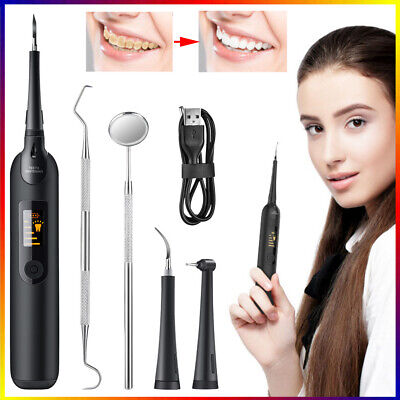 AU37.90 • Buy Electric Ultrasonic Dental Tartar Plaque Calculus Tooth Remover Set Cleaner Kit