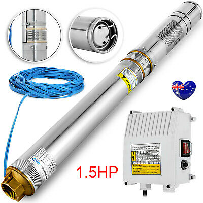AU194.90 • Buy 1.5hp Submersible Bore Water Pump Deep Well Stainless Steel 240v With 30m Cable