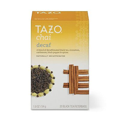 £13.39 • Buy Tazo Decaf Chai Black Tea Filterbags (20 Count)
