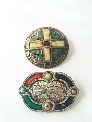 £12.50 • Buy 2x Vintage MIRACLE  Brooches Scottish Jewellery Signed