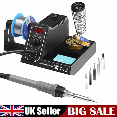 £34.99 • Buy Holife 60W Digital Soldering Iron Station Rework Kit Variable Stand Temperature
