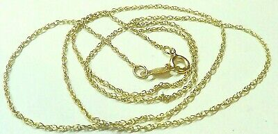 £17.54 • Buy Beautiful  Solid !4k Yellow Gold  Link  CHAIN  19 INCHES LONG
