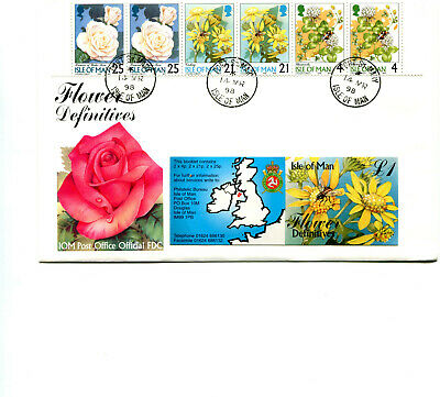 £3.99 • Buy Isle Of Man 1998 Wild Flowers Booklet FDC Cancelled Port St Mary