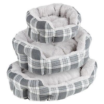 £9.99 • Buy Me & My Grey Check Extra Thick/soft Pet Bed Dog/puppy Small/medium/large S/m/l