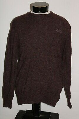 $37.12 • Buy SUPERDRY Mens Large L 100%Lambs Wool Sweater Combine Ship Discount