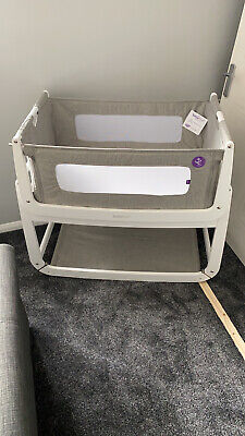£70 • Buy Snuzpod 2 Bedside Cot - Excellent Condition - White & Grey - 3 Sets Of Sheets