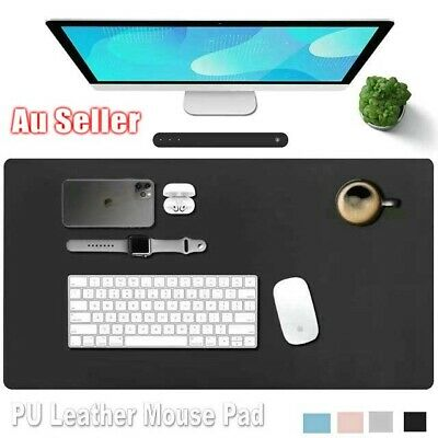 AU16.99 • Buy Large Leather Mouse Pad Gaming Non-Slip Desk Pad Protector  Waterproof Desk Mat