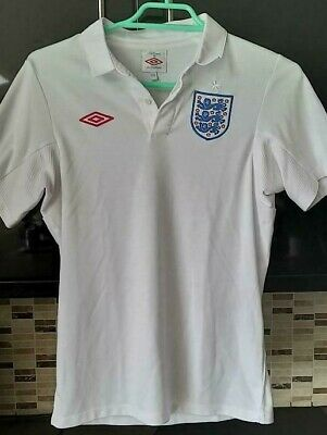 £17.99 • Buy England Football Jersey Shirt Home World Cup 2010 Umbro White Ladies Small