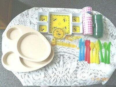 £5 • Buy JOBLOT - Assorted Items ~ Camping Picnic Melamine Table Ware Plates Mugs