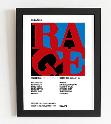 £7.99 • Buy Rage Against The Machine Poster Renegades Album Art Polaroid Style Indie A3 A4