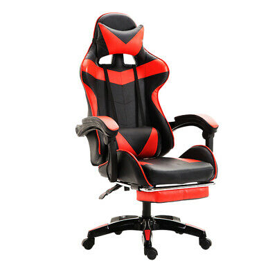 £26 • Buy Fityou Racing Gaming Chair Recliner Office PU Swivel Computer Chair Adjustable