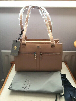 £43.50 • Buy MODALU Pippa Dusky Peach Smooth Leather Compact Shoulder Bag With Dust Bag BNWT