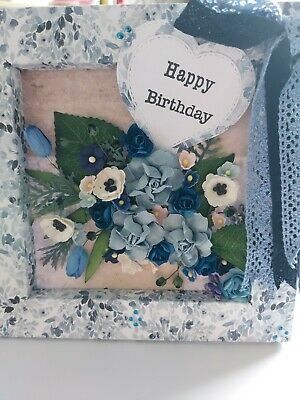 £3 • Buy 3D Box Frame Greeting Card With Flower Arrangement & Sentiment  Happy Birthday