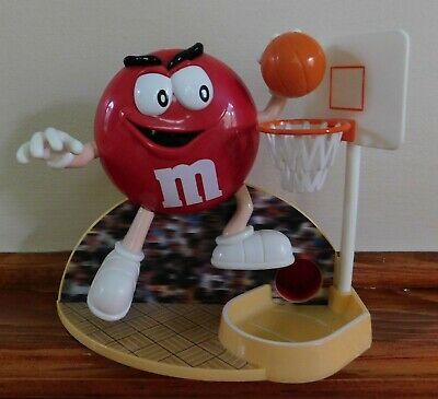 $9.99 • Buy M&Ms Basketball Player Candy Dispenser - Red M&M - 1999 - 5 Inches Tall