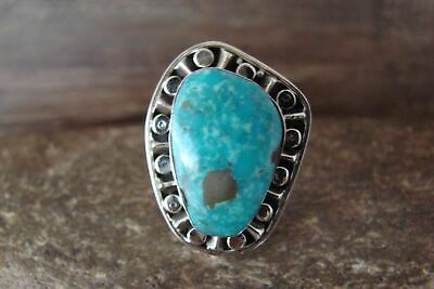 £64.88 • Buy Navajo Indian Jewelry Sterling Silver Turquoise Ring Size 6 - Belin