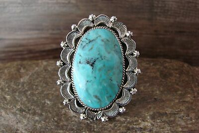£144.19 • Buy Navajo Indian Jewelry Sterling Silver Turquoise Ring Size 7 - Delgarito