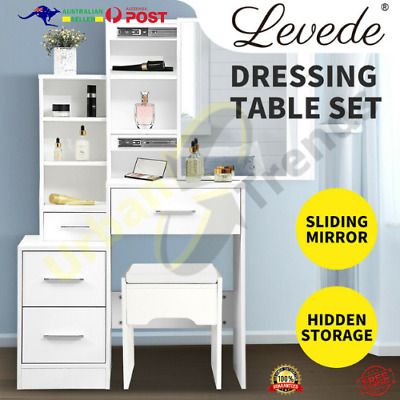 AU159.90 • Buy Levede Dressing Table Set Stool Mirrors Jewellery Cabinet Makeup Organizer