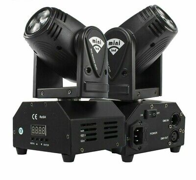 £62.96 • Buy 2PCS Mini 10W Beam Moving Head Light RGBW 4in1 Party Disco DMX Stage Effect Kits