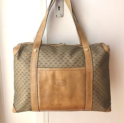 AU155 • Buy **Vintage GUCCI Micro GG Large Tote/overnight Bag**