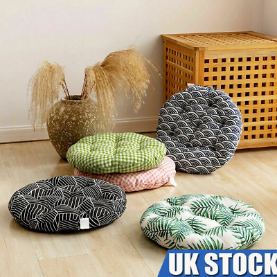 £8.33 • Buy Nordic Cotton Round Cushions Dining Chair Seat Thick Pads Garden Floor Pillow UK
