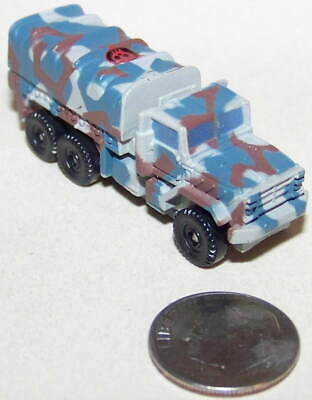 $4 • Buy Small  Micro Machine Plastic M-923 Military 6X6 Truck In Mixed Camouflage