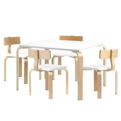 AU187 • Buy 5PCS Childrens Table And Chairs Set Kids Furniture Toy Dining White Desk