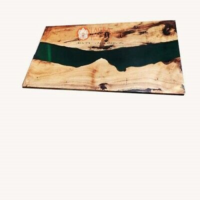 AU928.71 • Buy Deep Resin Live Edge Design Handmade Collectible Dining Table Top Furniture Deco