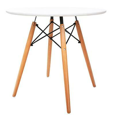 AU127 • Buy Round Dining Table 4 Seater 80cm White Replica Eames DSW Cafe Kitchen Retro T...