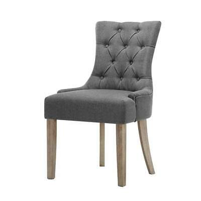 AU276 • Buy 2x Dining Chair CAYES French Provincial Chairs Wooden Fabric Retro Cafe
