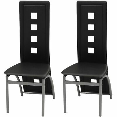 AU156 • Buy Dining Chairs 2 Pcs Black Faux Leather