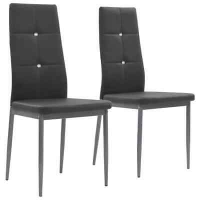 AU115 • Buy Dining Chairs 2 Pcs Grey Faux Leather