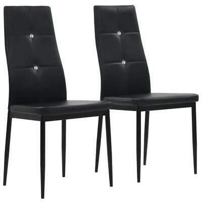 AU122 • Buy Dining Chairs 2 Pcs Black Faux Leather