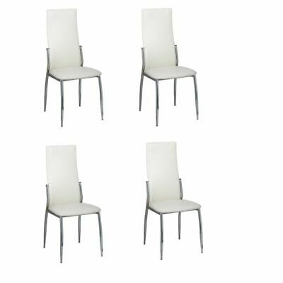 AU234 • Buy Dining Chairs 4 Pcs White Faux Leather
