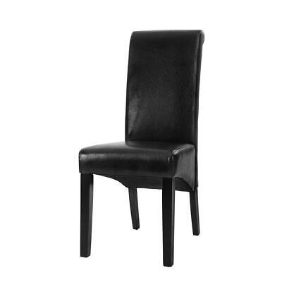 AU183 • Buy 2x Dining Chairs French Provincial Kitchen Cafe PU Leather Padded High Back P...