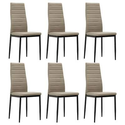 AU246 • Buy Dining Chairs 6 Pcs Cappuccino Faux Leather