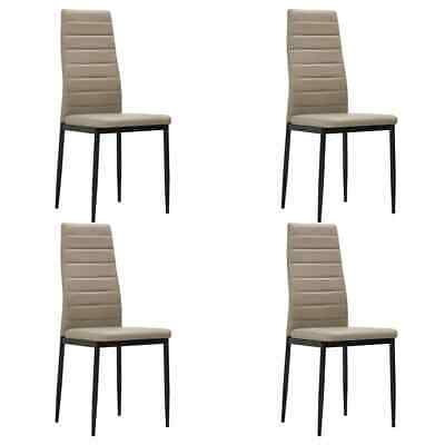 AU167 • Buy Dining Chairs 4 Pcs Cappuccino Faux Leather