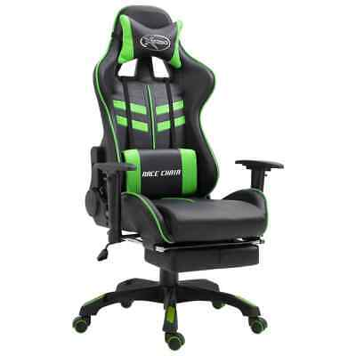 AU191 • Buy Gaming Chair With Footrest Green Faux Leather